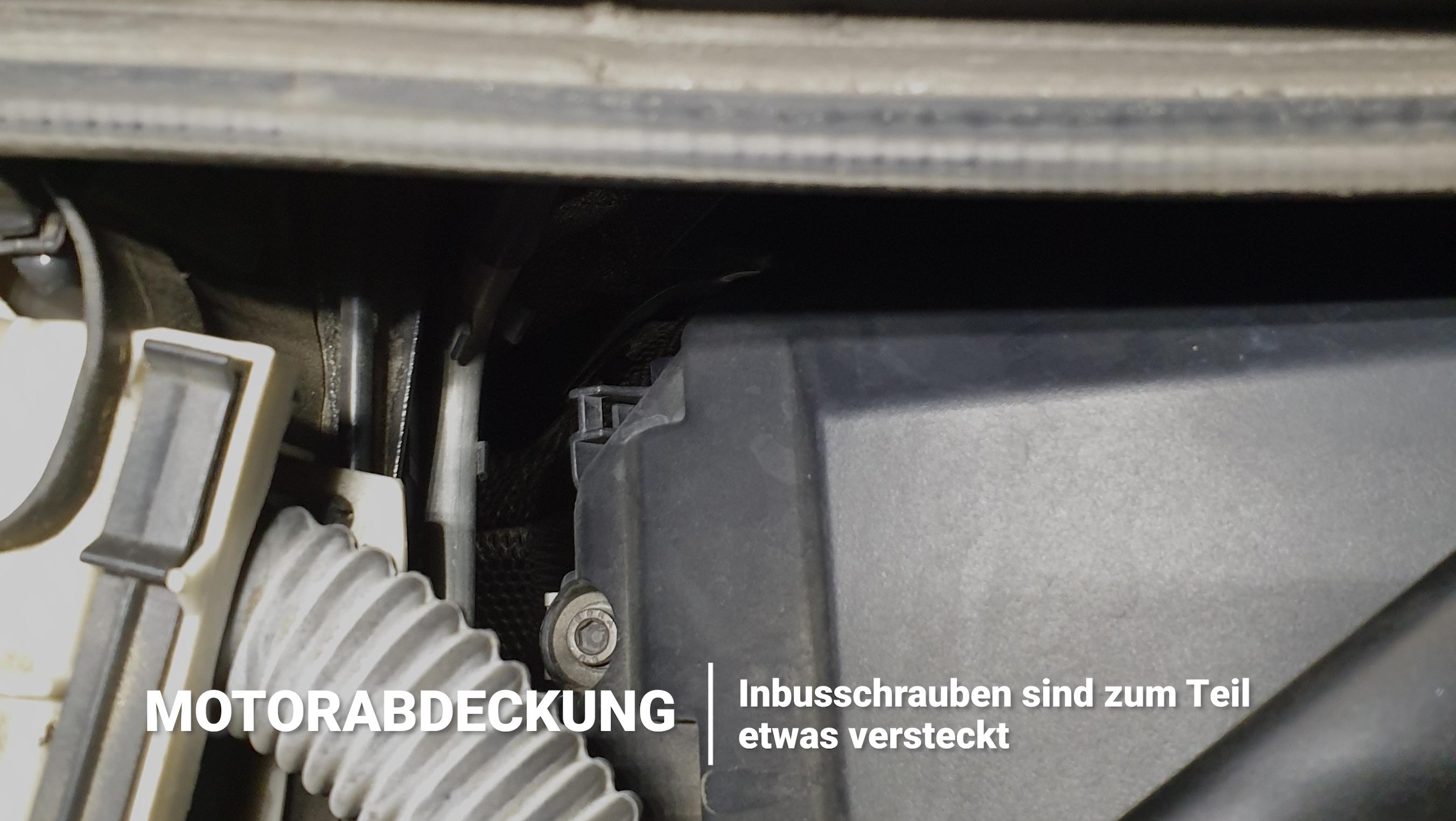 Motorabdeckung BMW 135i