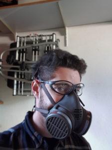 Bild Atemschutzmaske Unterbodenschutzaktion