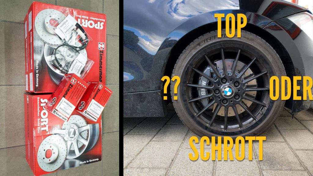Bremsscheiben BMW 135i Zimmermann Blogartikel